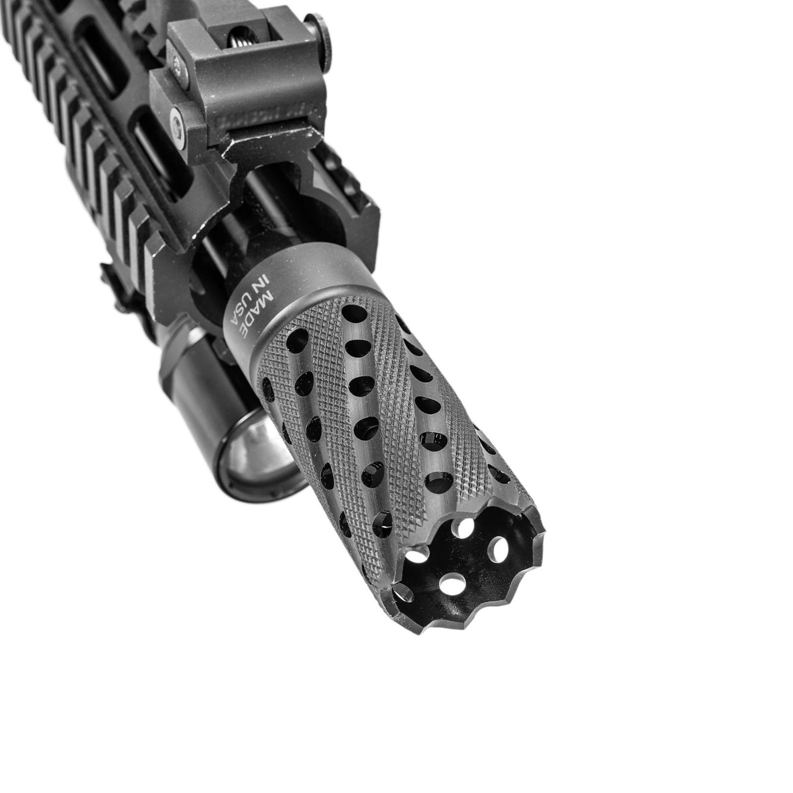 Helical Port Muzzle Brake for 12 gauge Shotgun, TMULC or MULC systems