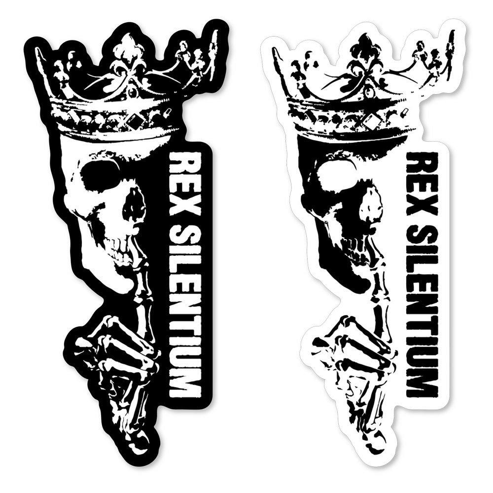Rex Silentium Logo Sticker 6x2.75