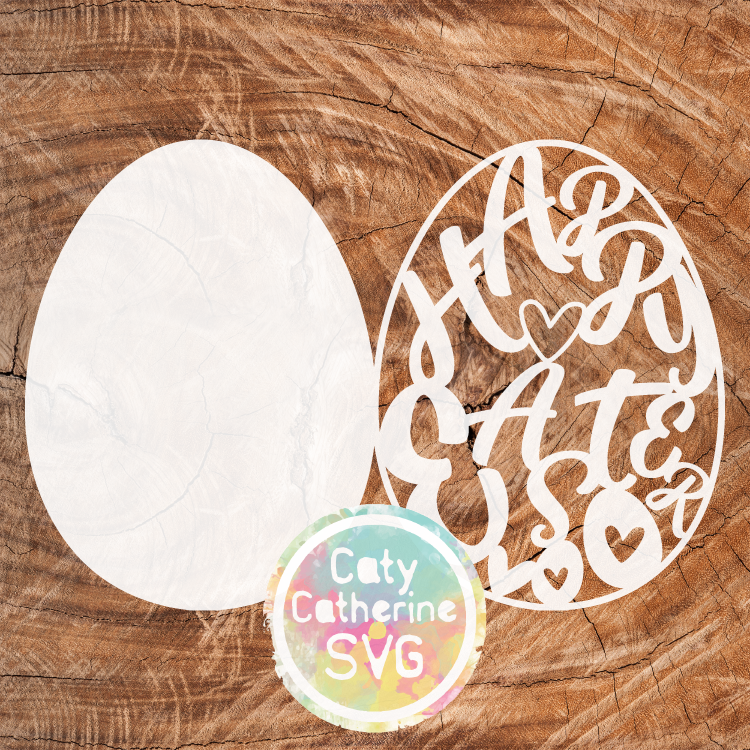 Happy Easter Egg Card Template SVG Cut File CATYCATHERINE0000177-05