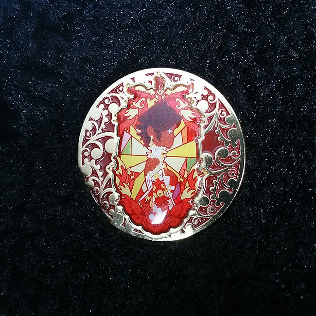 Pokemon Go Team Valor Rococo Baroque Art Nouveau Inspired Gold Lapel Pin 00003