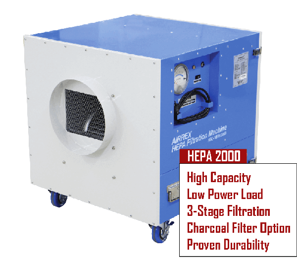 Airrex HEPA 2000 Air Filtration Purification System 00000
