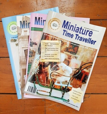 Miniature Time Traveller Magazine Annual Print Subscription - Auto Renew (Post and GST Inc.) $12 each 2 months.