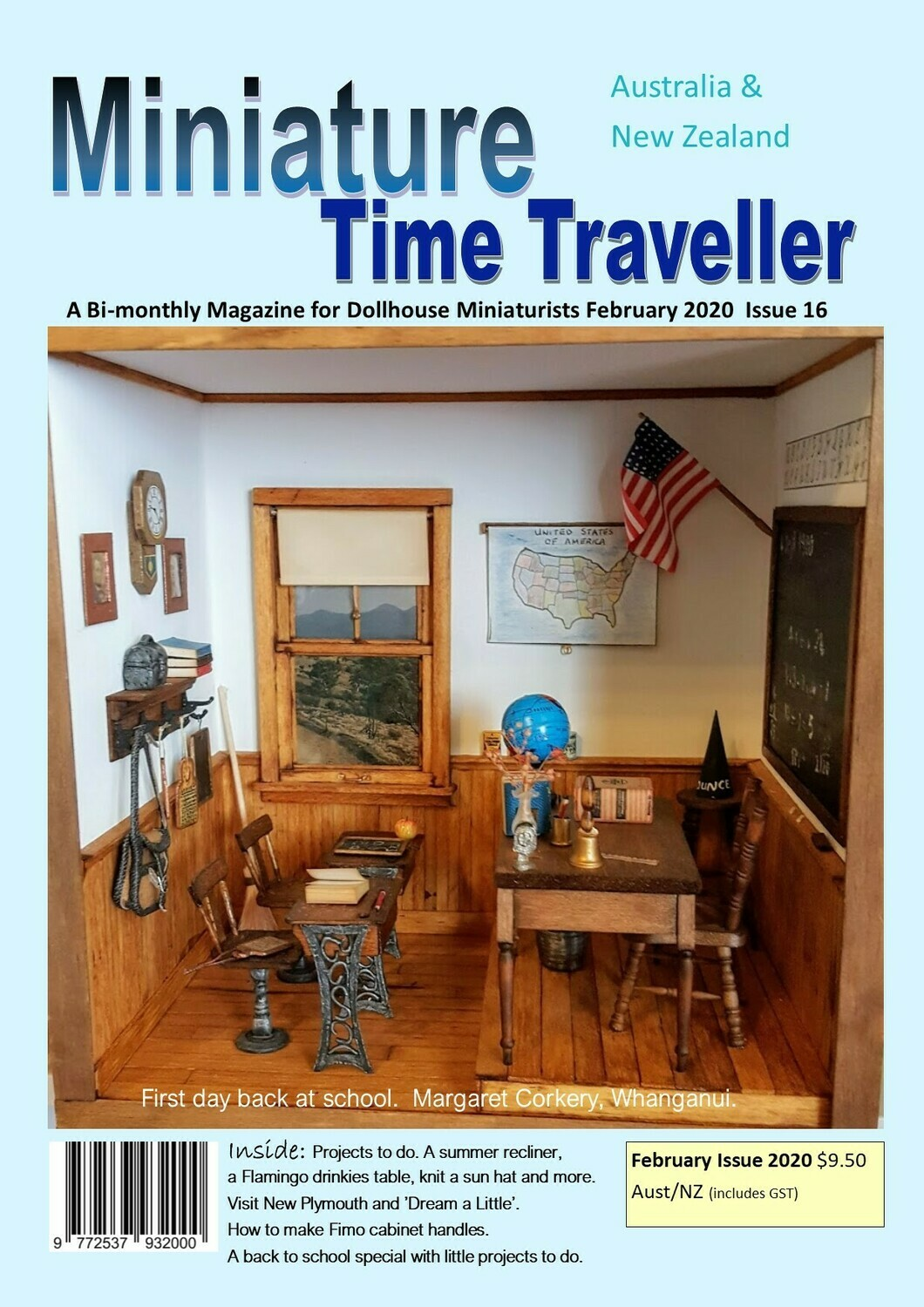February 2020 Miniature Time Traveller Magazine - Single copy. P&P extra.