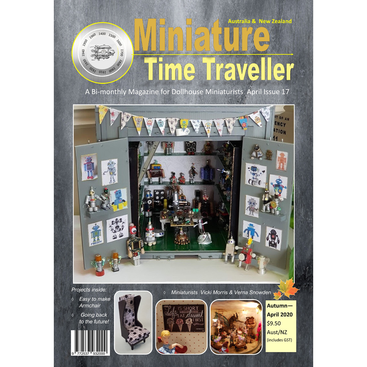 NEW ISSUE APRIL 2020 Miniature Time Traveller Magazine - Single copy. P&P extra.