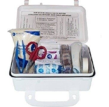 10 Person Plastic First Aid Kit Wall Mountable - Osha Compliant