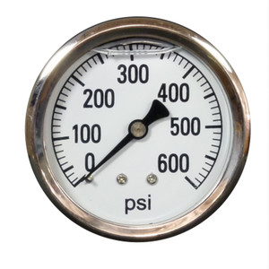 Pressure Guage, 600psi