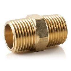 """Brass Nipple Hexagon - 1/4"""""""