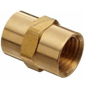 """Brass Coupler - 3/8"""""""