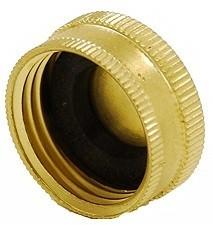 """Brass Garden Hose Cap - 3/4"""""""