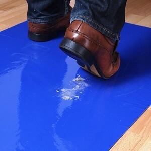 Tacky Mat Walk-Off Mats (Blue) - 24x36 - (4-packs of 30)