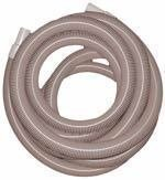 """1.5"""" x 25' - Gray Vacuum Hose with Cuffs"""