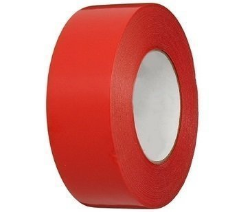 """3"""" x 60 yds. Red Gaffers Vinyl Tape Pinked Edges by Polyprep"""