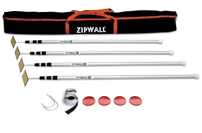 ZipWall 12' 4-Pack Deluxe Containment System
