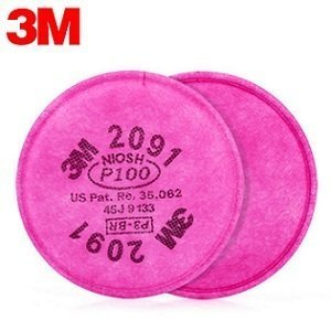 3M P100 Particulate Filter - Pair