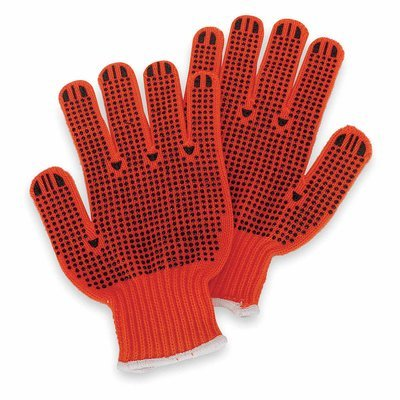 Orange Knit-Acrylic Material Gloves with High Visibility - LG