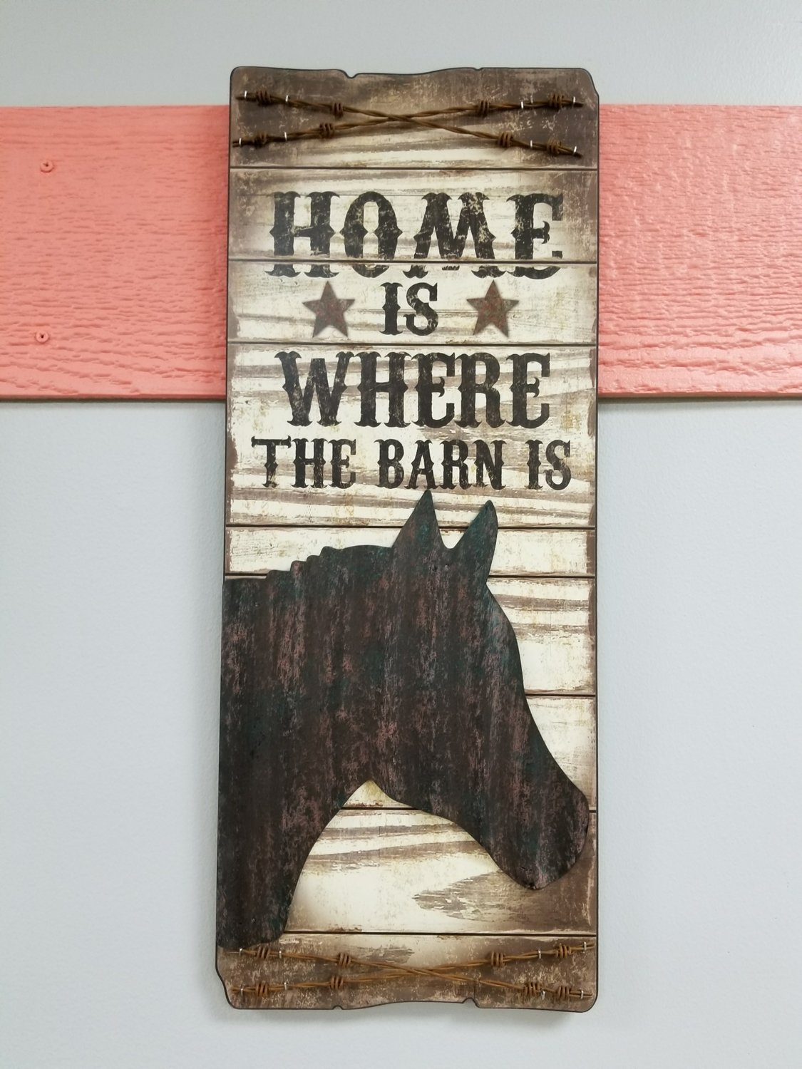 WHERE THE BARN IS WALL SIGN