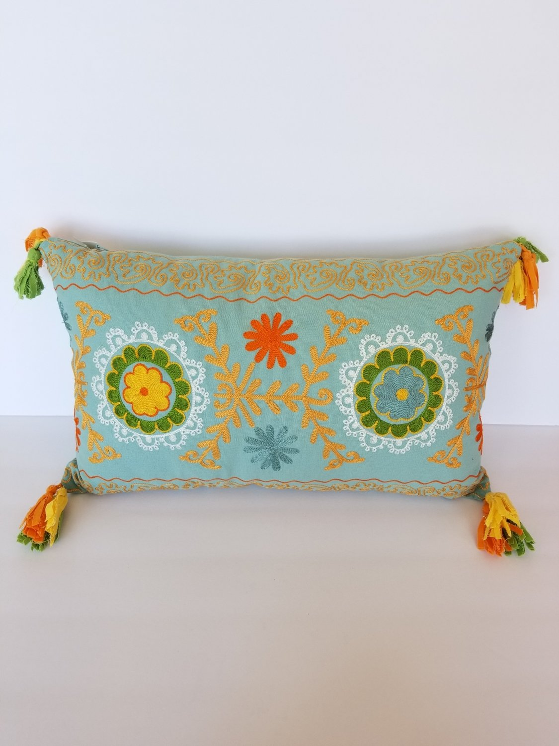 Embroidered Floral Pillows