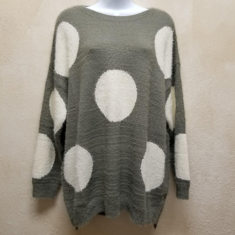 Olive Polkadot Sweater