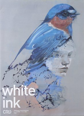 White - Ink Poster