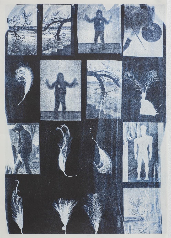 Blå Spor - Riso Print 00015