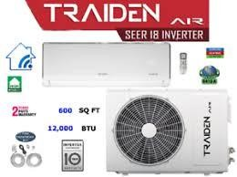 Traiden Air (AUX) 12K BTU 220 Volt Inverter Mini Split System with WIFI Remote