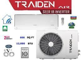 Traiden Air 12K BTU Mini Split System -110 Volt with Install Kit