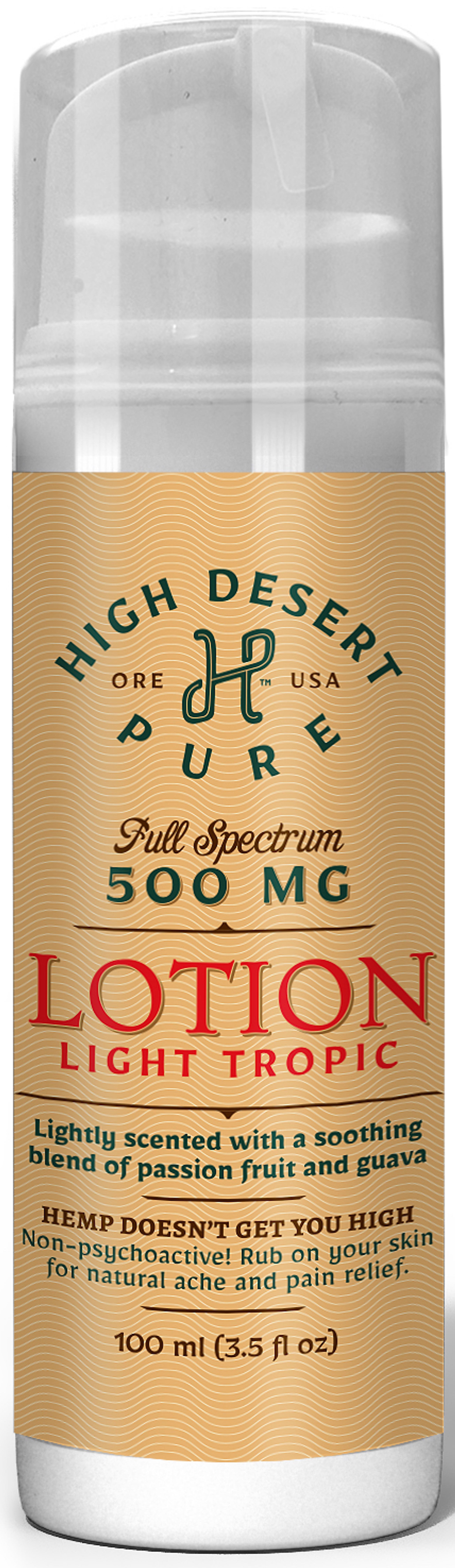 500mg Hemp Infused Lotion - Full Spectrum