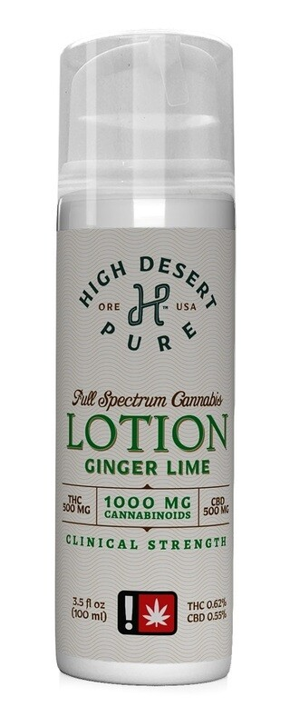 Ginger Lime Clinical Strength Lotion