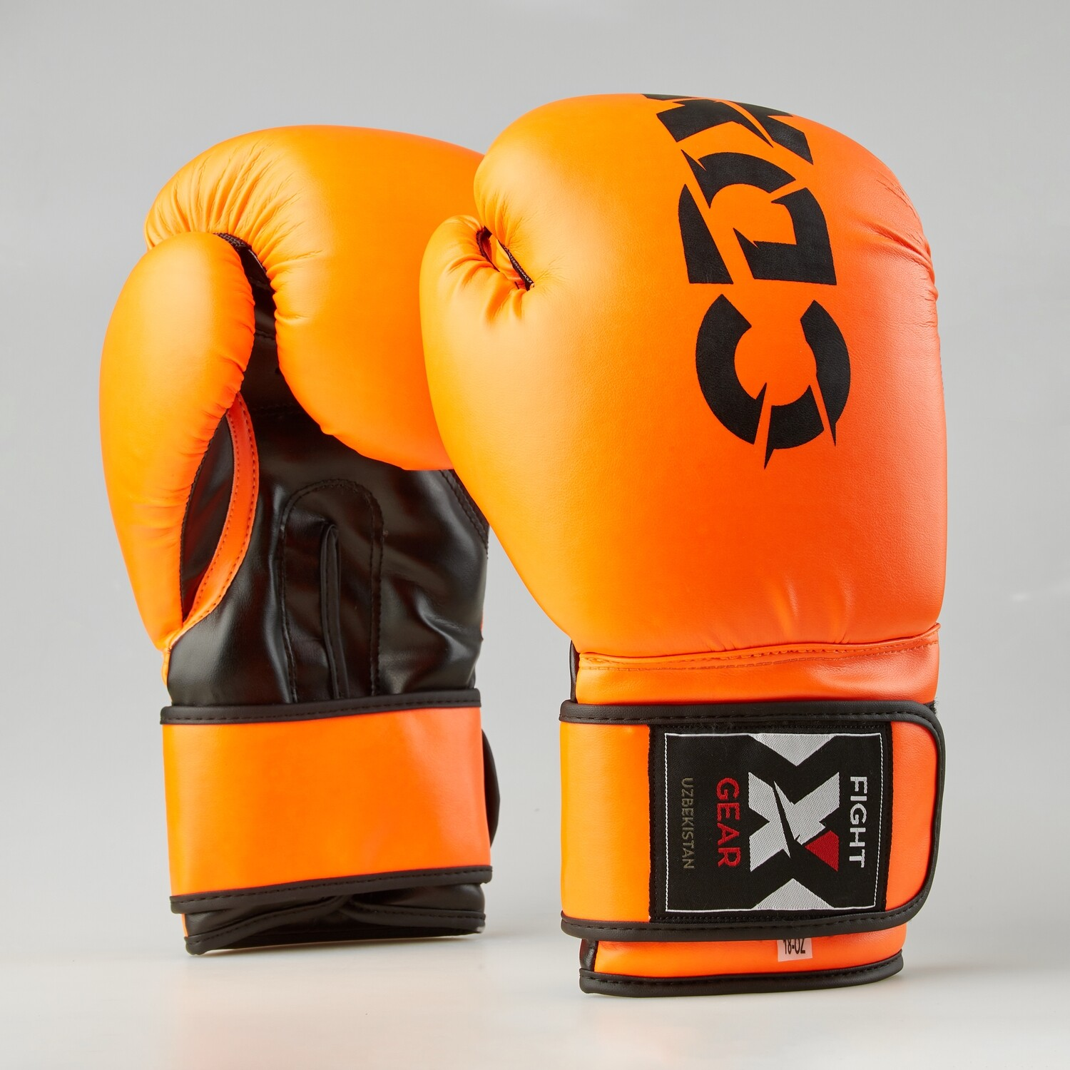 "Boxing gloves artificial leather ""Rexin"" orange-black"