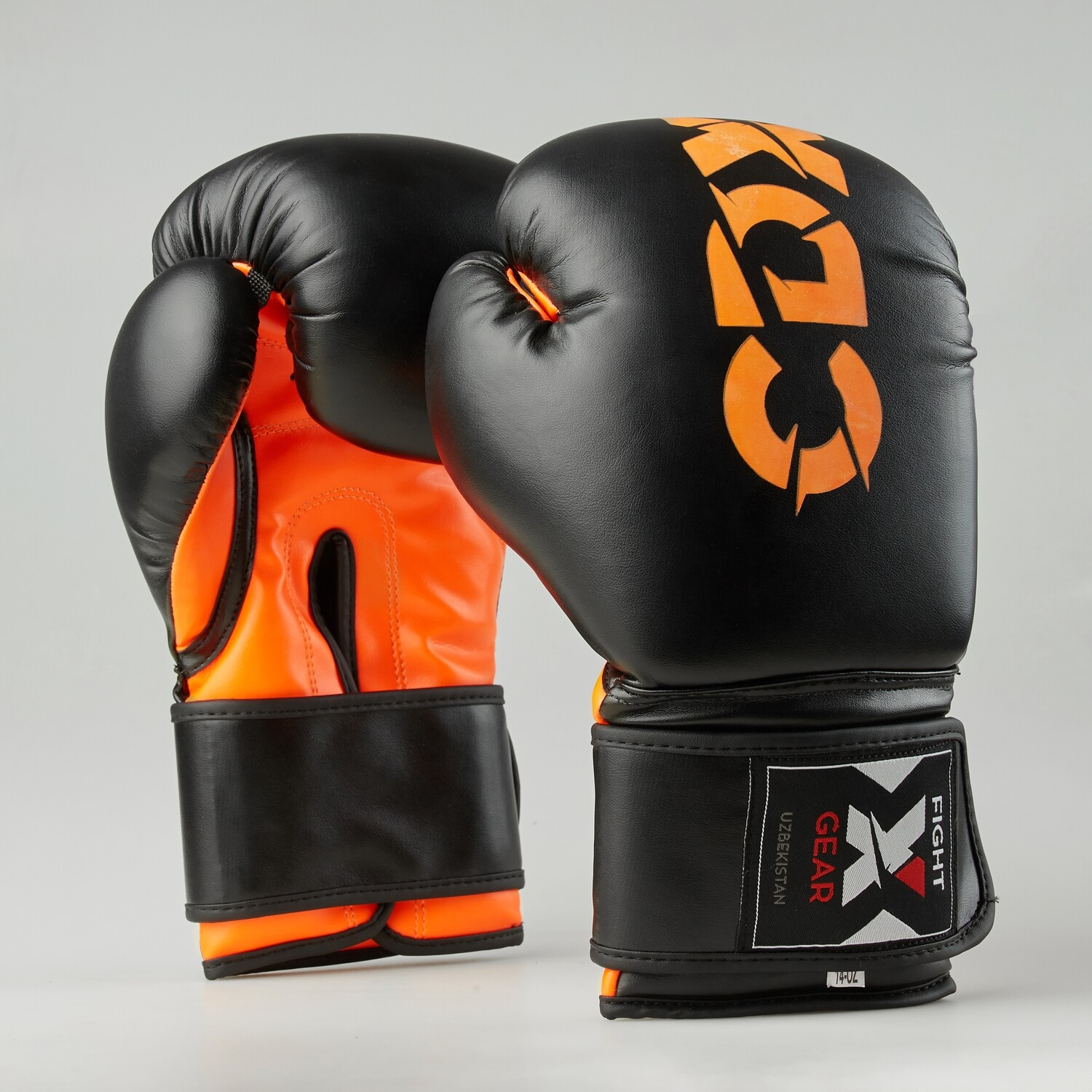"Boxing gloves artificial leather ""Rexin"" black-orange"