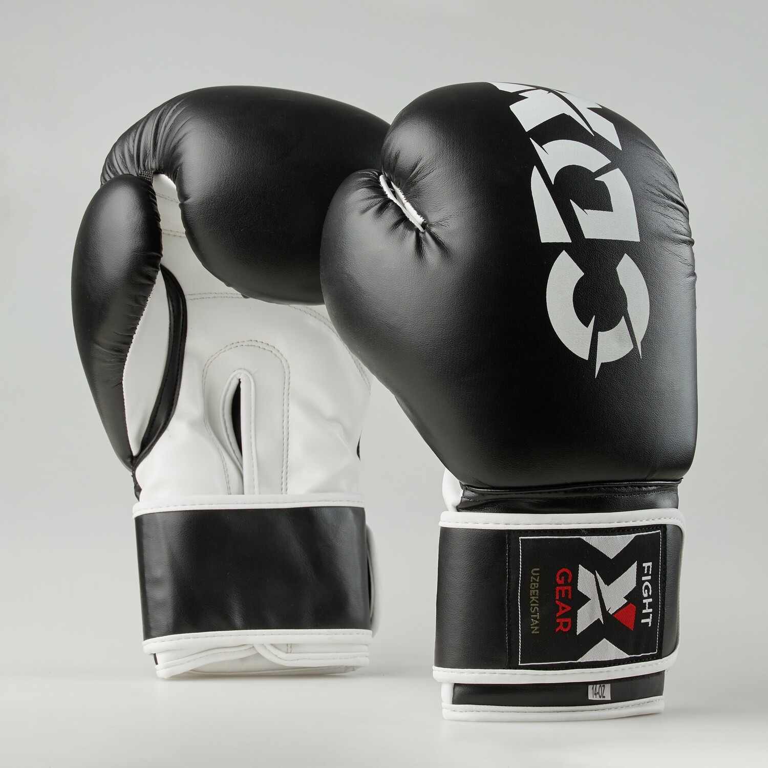 "Boxing gloves artificial leather ""Rexin"" black-white"