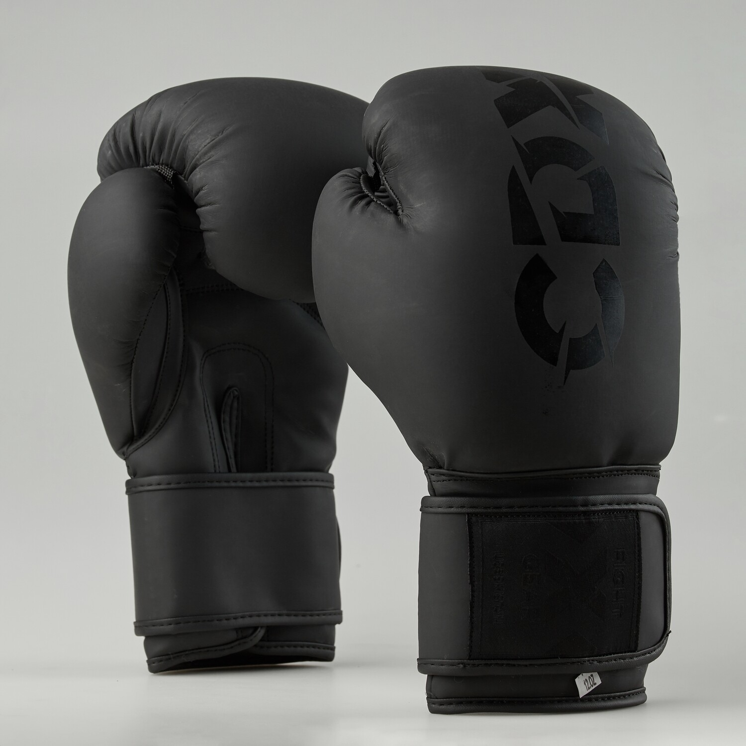 "Boxing gloves artificial leather ""Rexin"" black mate"