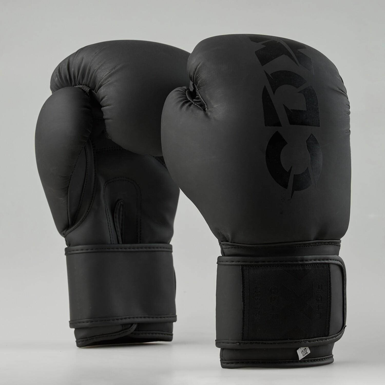 """Боксерские перчатки из искусственной кожи """"Rexin"""" черные матовые"""