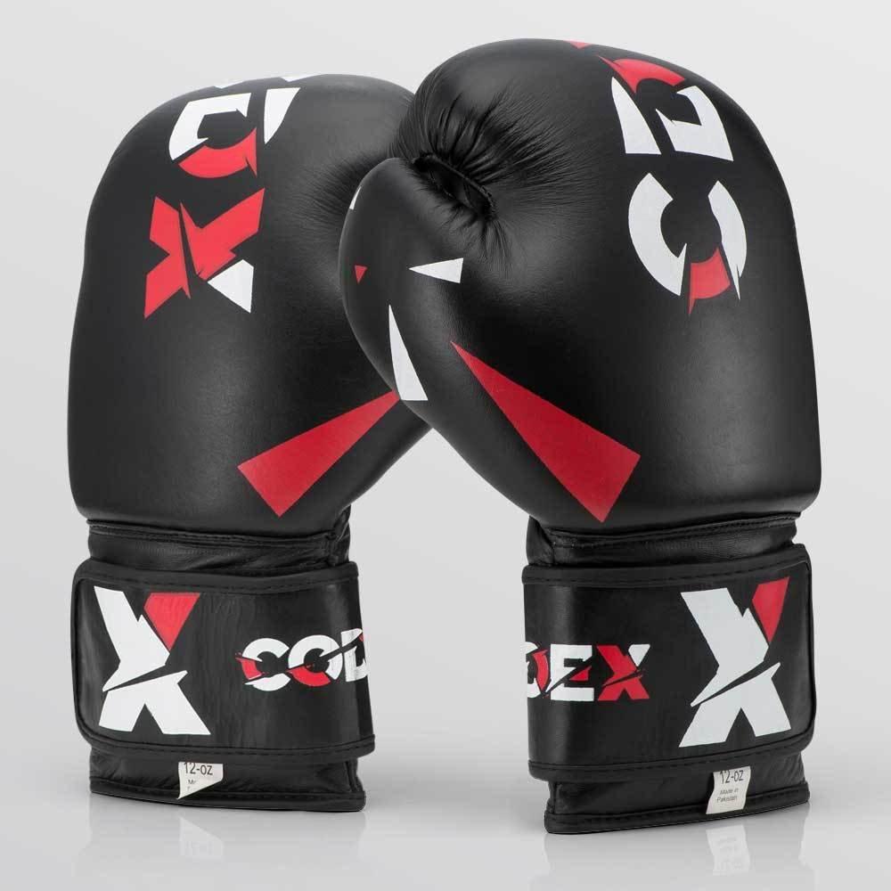 Боксерские перчатки из натуральной кожи CDX BLCK