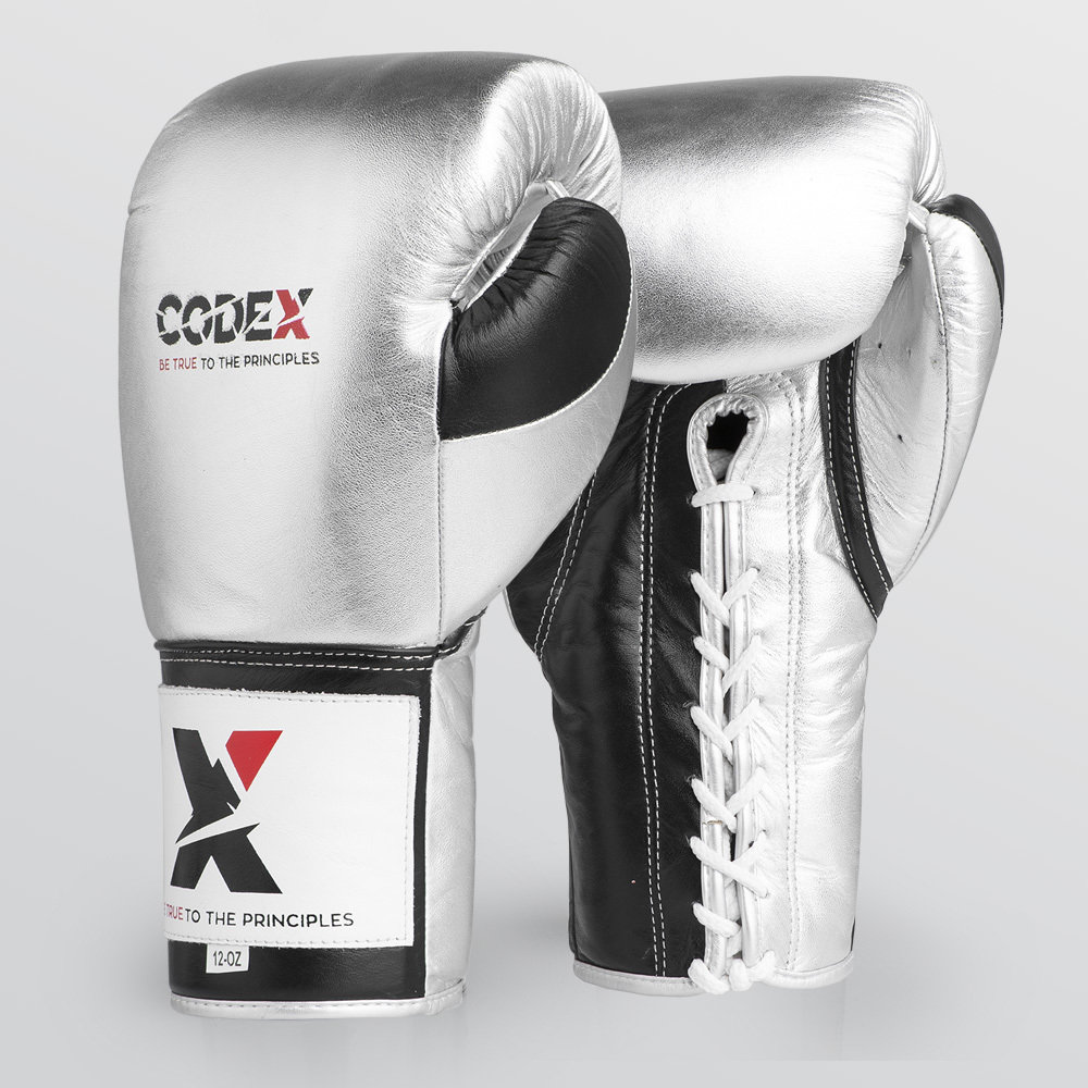 Codex ELITE Pro Fights Gloves Silver