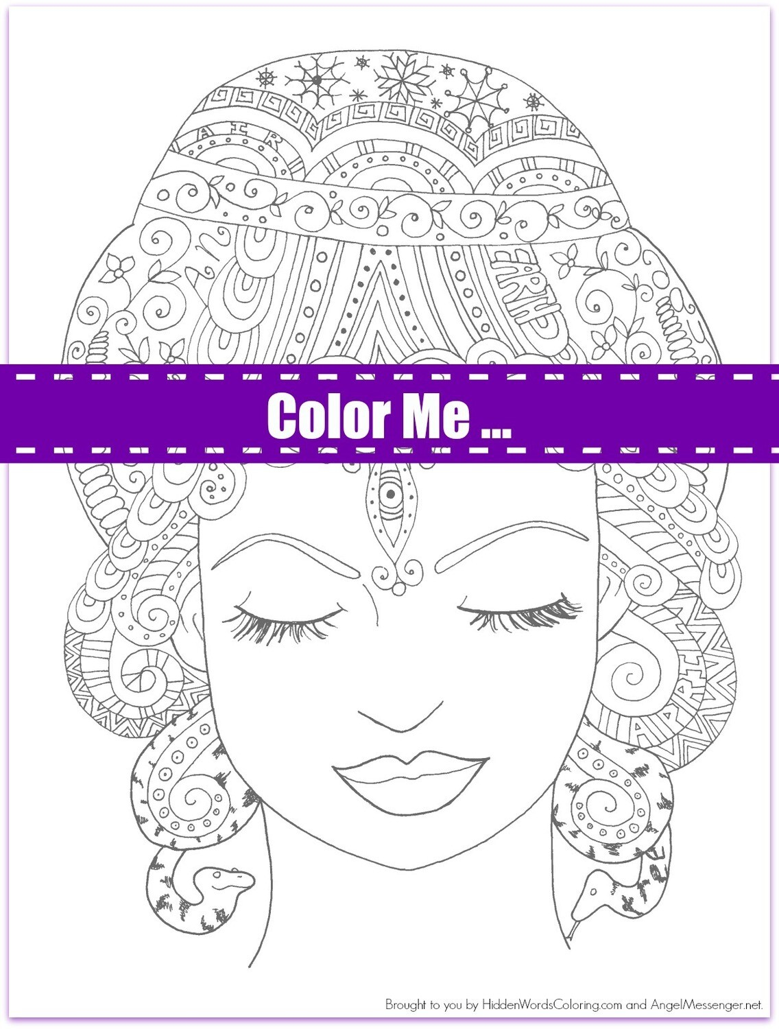 Gaia Earth Mother Coloring Page