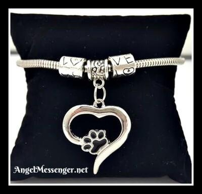 Pet Love Heart Charm Bracelet
