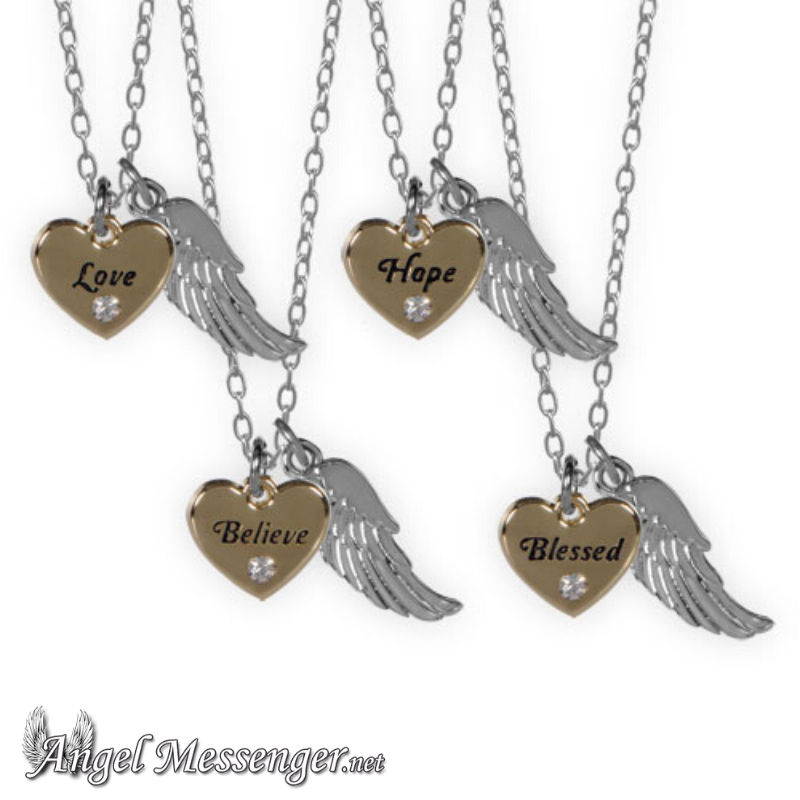 Guardian Angel Heart Necklaces (New!)