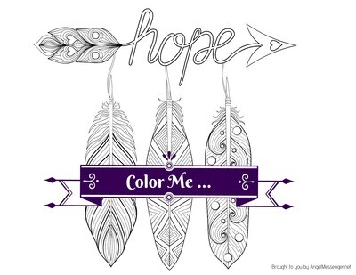 Feathers of Hope Coloring Page
