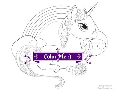 Unicorn Pony Rainbow Coloring Page