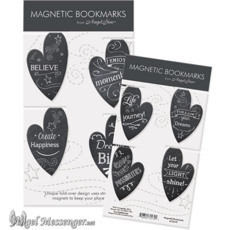 Heart Chalkboard Magnetic Bookmarks