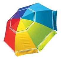 Beach Umbrella with corkscrew for sand - limited inventory