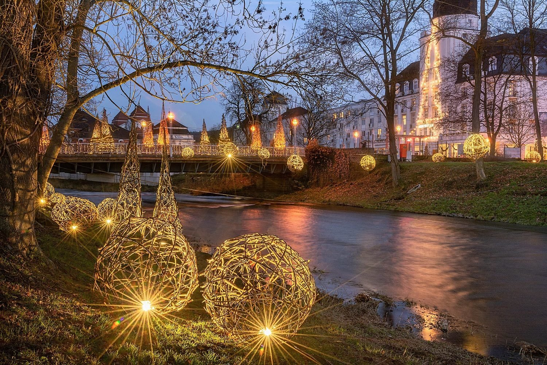 Uferlichter in Bad Neuenahr - Leinwand