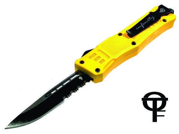 Cerakote® Fullsize Infinity OTF Tactical Knife (Yellow)