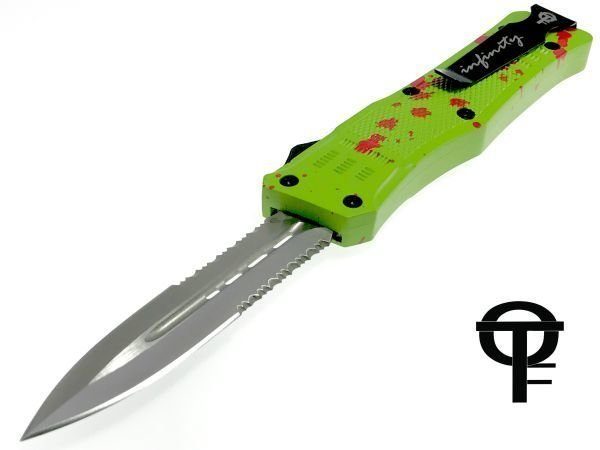 "Cerakote® 7"" Mini-size Infinity OTF Tactical Knife (Zombie)"