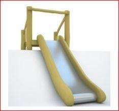Edelstahle Rutsche - Breite - 50 cm - Auf der Böschung