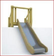 Edelstahle Rutsche - Breite - 50 cm -Auf der Böschung