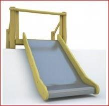 Edelstahle Rutsche - Breite - 100 cm -Auf der Böschung