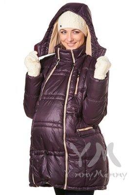 Y@mmy Mammy. Универсальная куртка 3 в 1 баклажан/песочный флис