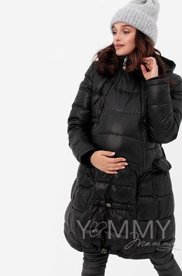 Y@mmy Mammy. Универсальное зимнее пуховое пальто 3 в 1, цвет черный